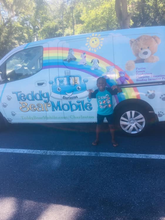 Make Your New Friend with Teddy Bear Mobile-Charleston